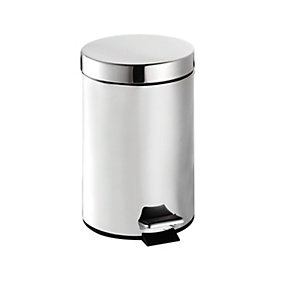 Croydex Pedal Bin - Stainless Steel 3L
