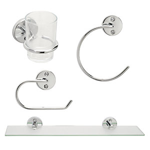 Wickes 4 Piece Bathroom Accessory Set