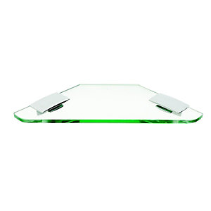 Wickes Corner Glass Shelf - Chrome 220mm
