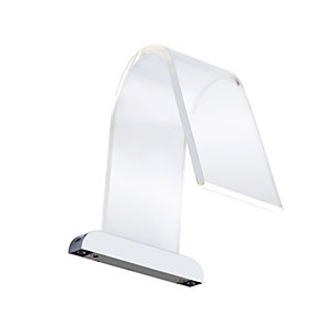 Wickes Cascade Warm White Cob LED Curved Acrylic Over Mirror Light - 3W