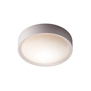 Flush lights interior lights wickes wickes nova bathroom ceiling flush light e27 aloadofball Image collections