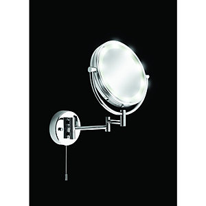 Wickes Fini Shaving Mirror with Light