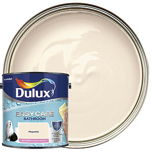 Dulux Easycare Bathroom Soft Sheen Emulsion Paint - Magnolia 2.5L