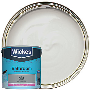 Wickes Bathroom Soft Sheen Emulsion Paint - No. 215 City Statement 2.5L
