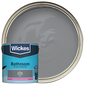 Wickes Bathroom Soft Sheen Emulsion Paint - No. 235 Slate 2.5L