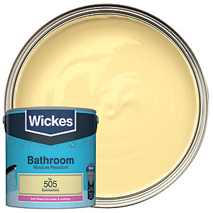 Wickes Bathroom Soft Sheen Emulsion Paint - No. 505 Summertime 2.5L