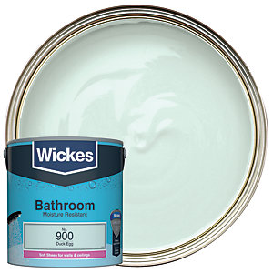 Wickes Bathroom Soft Sheen Emulsion Paint - No. 900 Duck Egg 2.5L