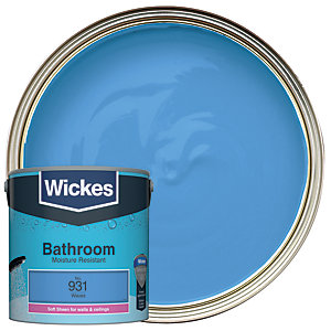 Wickes Bathroom Soft Sheen Emulsion Paint - No. 931 Waves 2.5L