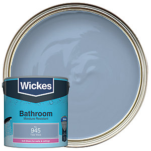 Wickes Bathroom Soft Sheen Emulsion Paint - No. 945 Tidal Wave 2.5L