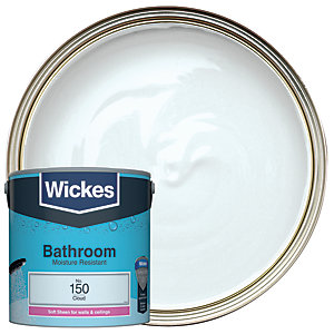 Wickes Cloud - No. 150 Bathroom Soft Sheen Emulsion Paint - 2.5L