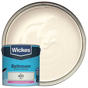 Wickes Ivory - No. 400 Bathroom Soft Sheen Emulsion Paint - 2.5L