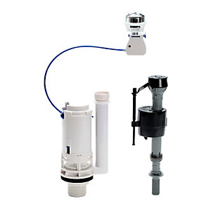 Fluidmaster Push Button Cistern Dual Flush Valve & B/E Fill kit