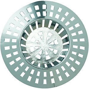 Wickes Chrome Effect Basin Plastic Strainer