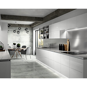 Boutique Austin White Glazed Porcelain Tile 1200 x 600mm