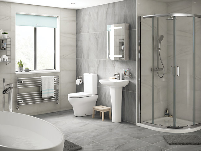 Belmont Grey Glazed Porcelain Tile