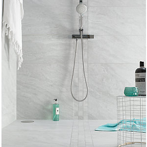 Boutique Kallo Stone Light Grey Glazed Porcelain Tile 600 x 300mm