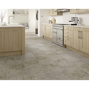Boutique Kirkby Brown Tumbled Limestone Tile 700 x 400mm