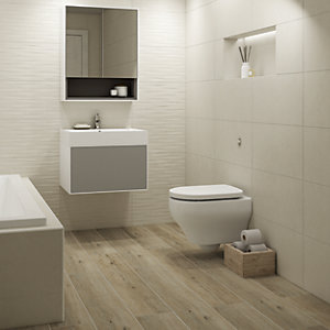 Boutique Maryland Oak Glazed Porcelain Wood Effect Wall & Floor Tile 1140 x 200mm