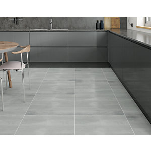 Boutique Synthesis Grey Glazed Porcelain Wall & Floor Tile 600 x 600mm