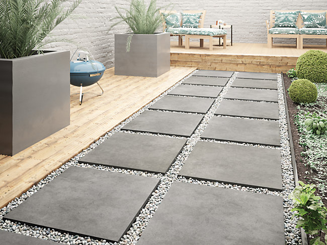 Al-Fresco Graphite Porcelain Tile