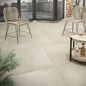 Wickes Al Fresco Sand Indoor & Outdoor Porcelain Floor Tile 610 x 610mm