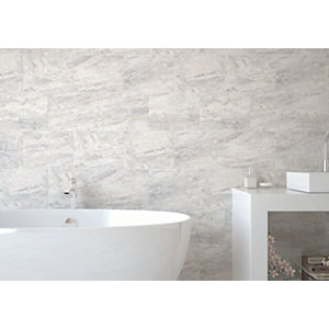 Wickes Amalfi Slate Grey Ceramic Wall & Floor Tile 360 x 275mm
