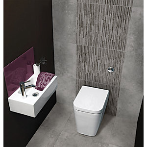 Wickes Battersea Splitface Grey Ceramic Wall Tile 498 x 298 mm
