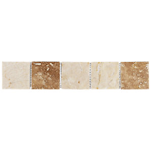 Wickes Beige Matt Marble Border Tile 250 x 48mm