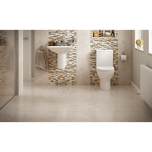 Wickes Brook Beige Porcelain Tile 600 x 300mm