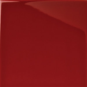 Wickes Cosmopolitan Gloss Red Ceramic Wall Tile 100 x 100mm