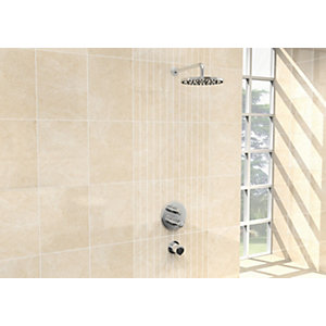 Wickes Crema Marfil Satin Scored Tile 360 x 275mm