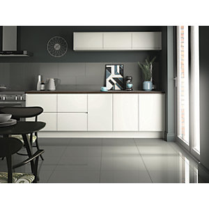 Wickes Infinity Storm Grey Porcelain Tile 600 X 300mm