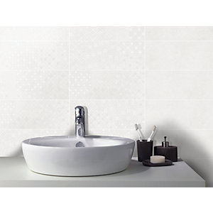 Wickes Logic Ivory Ceramic Wall Tile 400 x 150mm