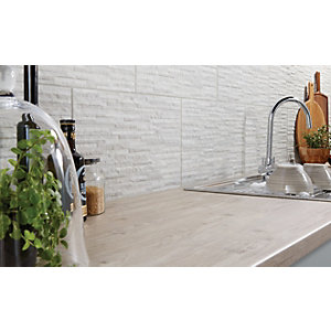 Wickes Mayfield Grey Splitface Ceramic Wall Tile 498 x 298mm