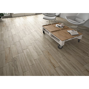 Wickes Mercia Grey Wood Effect Tile - 150 x 600mm