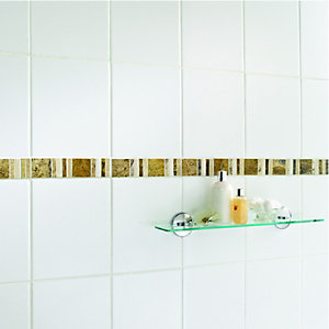 Wickes Midas Beige Natural Stone Border Tile 296 x 48mm