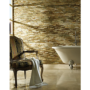 Wickes Oyster Split Face Mosaic - 360 x 100mm Pack of 5