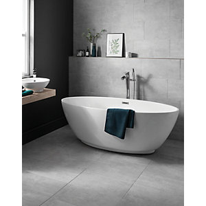 Wickes Tibet Light Grey Matt Glazed Porcelain 600 x 300mm