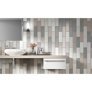 Wickes Twilight Cream Ceramic Wall Tile 300 x 100mm