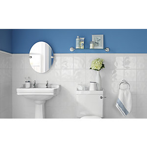 Wickes White Bumpy Ceramic Tile 200 x 200 mm