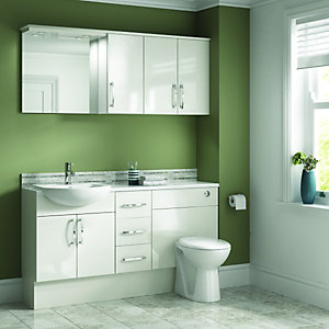 Wickes Seville Bathroom Worktop - White 2000mm