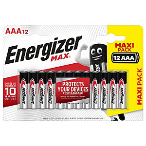 Energizer Max AAA Batteries - Pack of 12