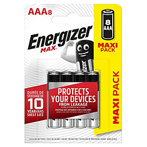 Energizer Max AAA Batteries - Pack of 8