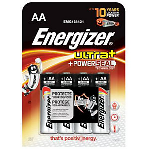 Energizer Ultra+ AA Batteries - Pack of 4
