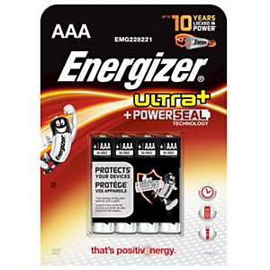 Energizer Ultra+ AAA Batteries - Pack of 4