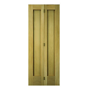 Wickes Oxford Oak 2 Panel Internal Bi-Fold Door - 1981mm x 762mm