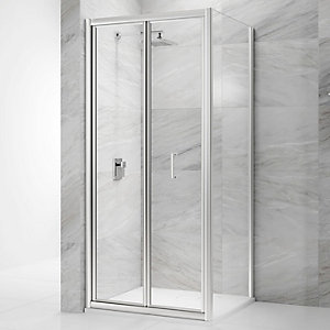 Nexa By Merlyn 6mm Bifold Chrome  Framed Shower Door Only - 900mm
