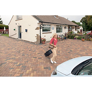 Marshalls Driveline Priora Driveway Block Paving - Ochre 200 x 100 x 60mm Pack of 404