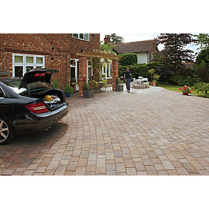 Marshalls Drivesett Tegula Driveway Block Paving - Harvest 160 x 160 x 50mm Pack of 426