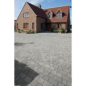 Marshalls Drivesett Tegula Driveway Block Paving - Pennant Grey 120 x 160 x 50mm Pack of 606